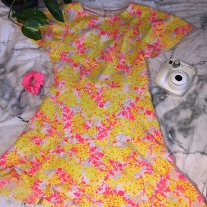 🎉NEED GONE~MOVING🎉 Neon Floral GB girls 16 Dress